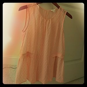 J. Crew Peach Sheer Blouse